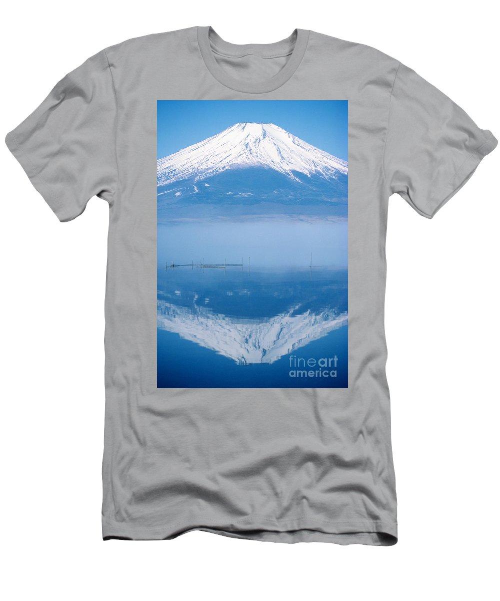 Allan Seiden Men's T-Shirt (Athletic Fit) featuring the photograph Mount Fuji by Allan Seiden - Printscapes