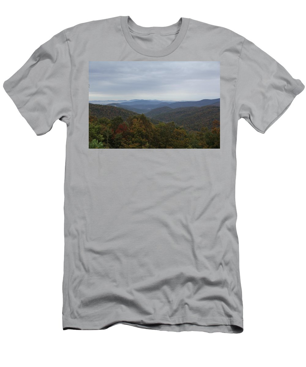 Mountain Men's T-Shirt (Athletic Fit) featuring the photograph Mountain Landscape 7 by Allen Nice-Webb