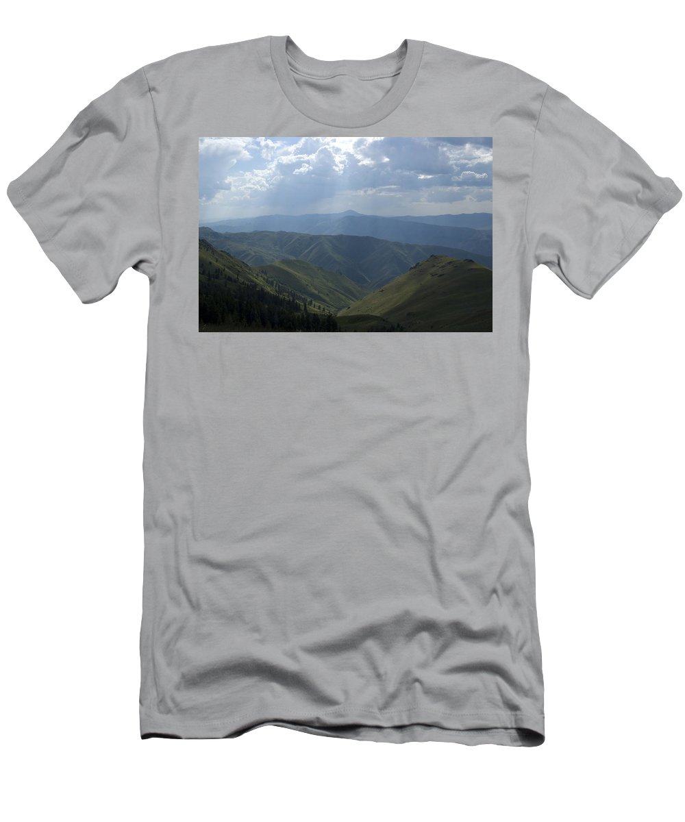 Mountains Men's T-Shirt (Athletic Fit) featuring the photograph Mountain Top 1 by Sara Stevenson