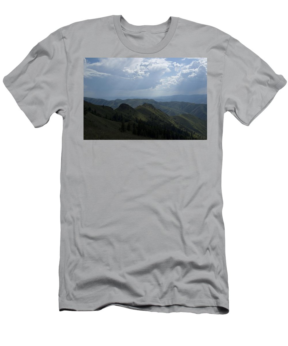 Mountain Men's T-Shirt (Athletic Fit) featuring the photograph Mountain Top 2 by Sara Stevenson