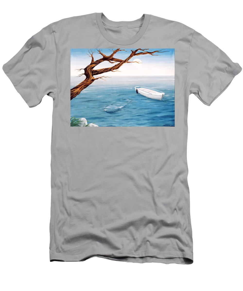 Seascape Prints Men's T-Shirt (Athletic Fit) featuring the painting Mourning Spring by Mark Cawood