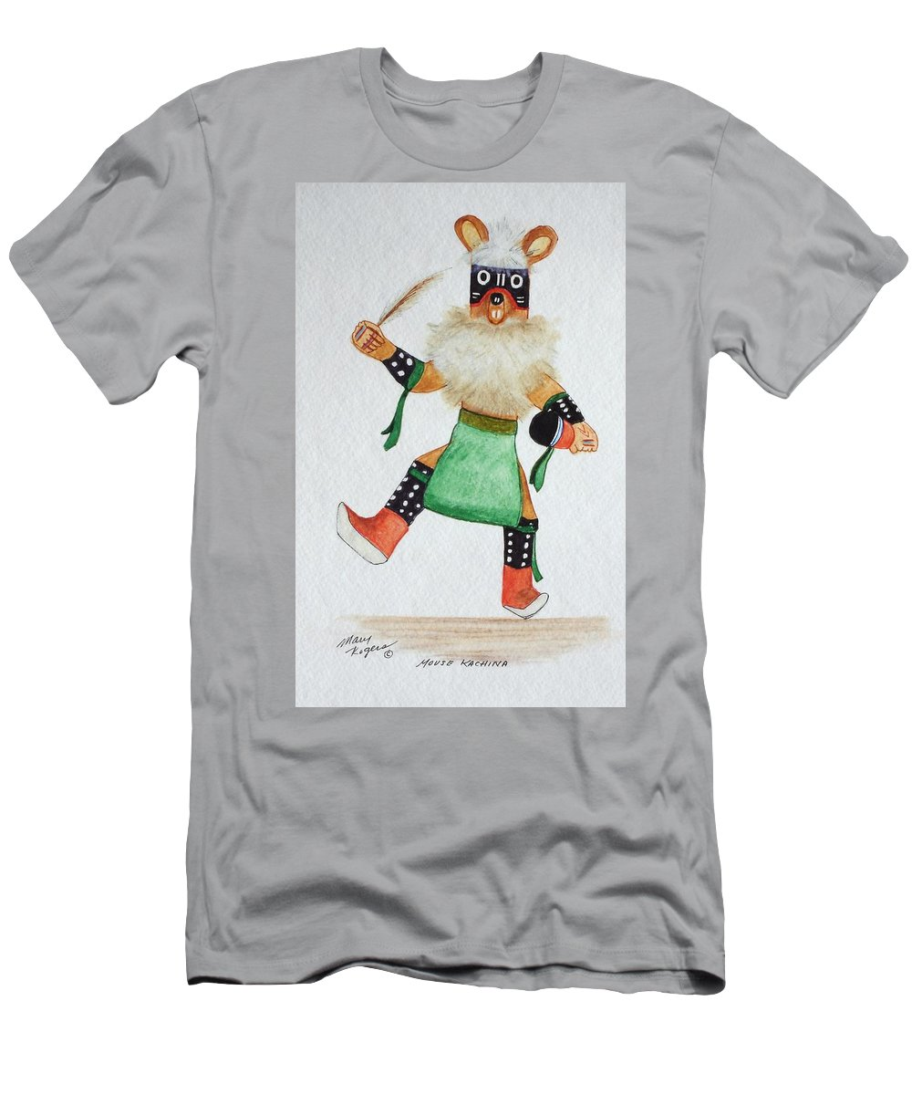 Mouse Men's T-Shirt (Athletic Fit) featuring the mixed media Mouse by Mary Rogers