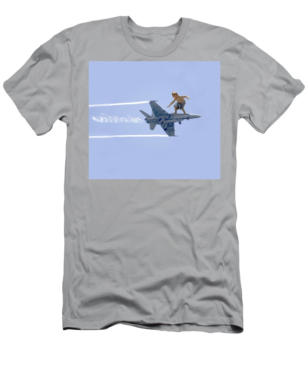 Fun Men's T-Shirt (Athletic Fit) featuring the photograph Movement Contest 1 by Jill Reger