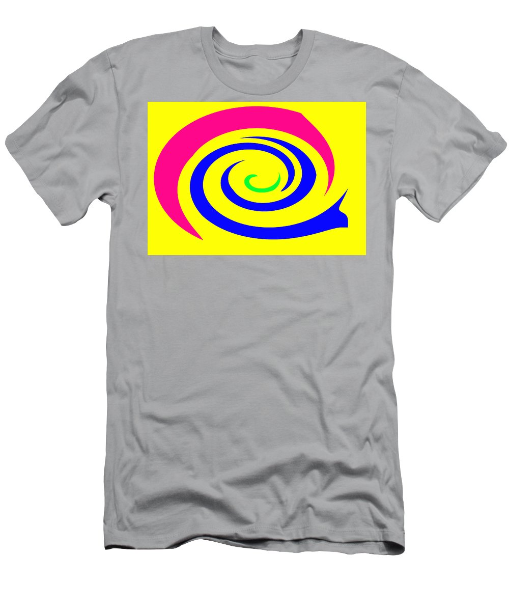 Moveonart! Global Gathering. -- Digital Abstract Art By Jacob Kane -- Omnetra Men's T-Shirt (Athletic Fit) featuring the digital art Moveonart Movecolormove by Jacob Kanduch