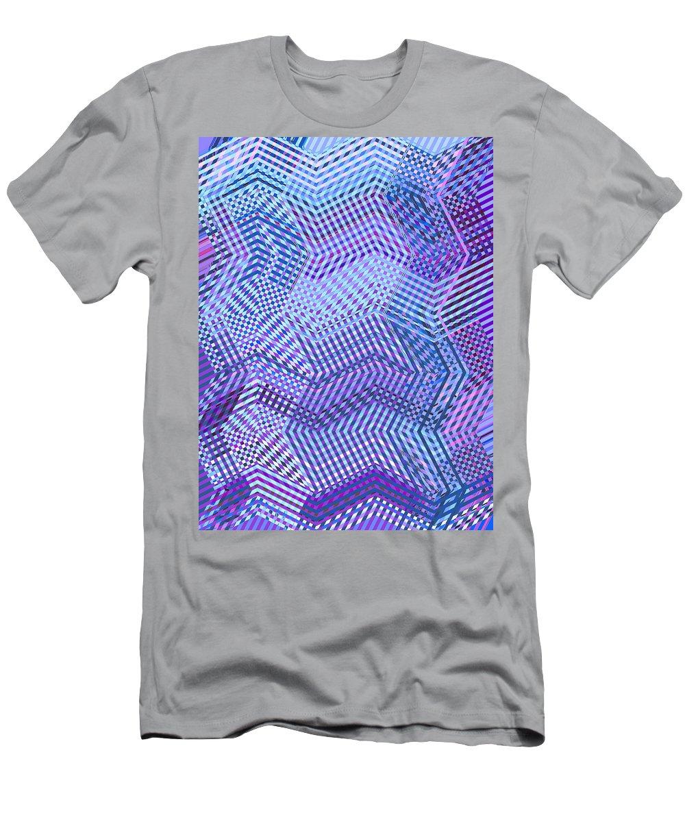 Moveonart Digital Gallery San Francisco California Lower Nob Hill Jacob Kane Kanduch Men's T-Shirt (Athletic Fit) featuring the digital art Moveonart New Patterns 2 by Jacob Kanduch