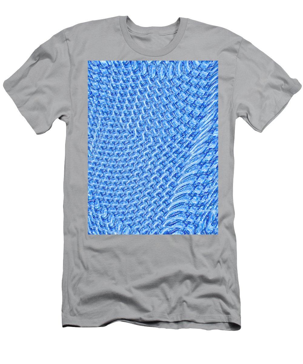 Moveonart Digital Gallery San Francisco California Lower Nob Hill Jacob Kane Kanduch Men's T-Shirt (Athletic Fit) featuring the digital art Moveonart Turquoise Knit by Jacob Kanduch