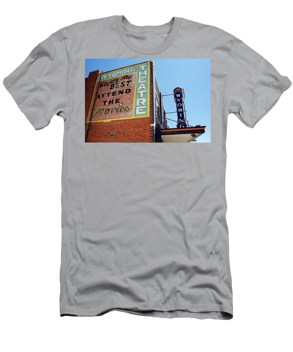 Americana Men's T-Shirt (Athletic Fit) featuring the photograph Movie Sign 1 by Marilyn Hunt