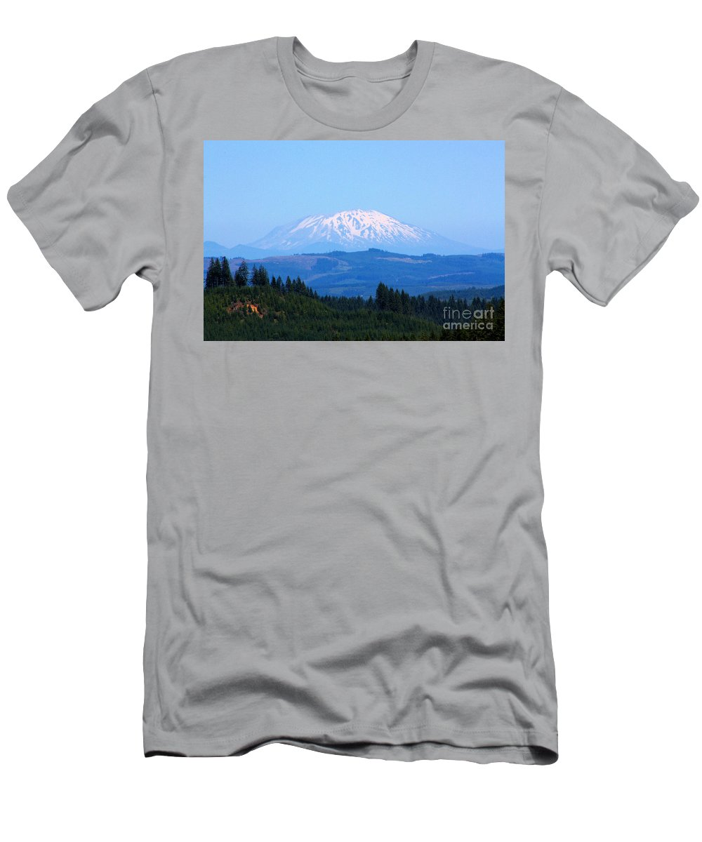 Mountains Men's T-Shirt (Athletic Fit) featuring the photograph Mt. St. Helens by Nick Gustafson