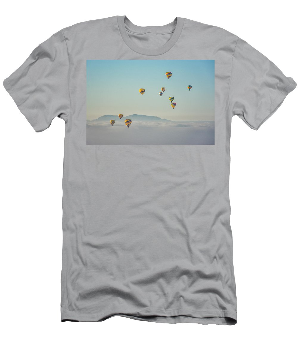 Landscape Men's T-Shirt (Athletic Fit) featuring the photograph Multiples by Laura Macky