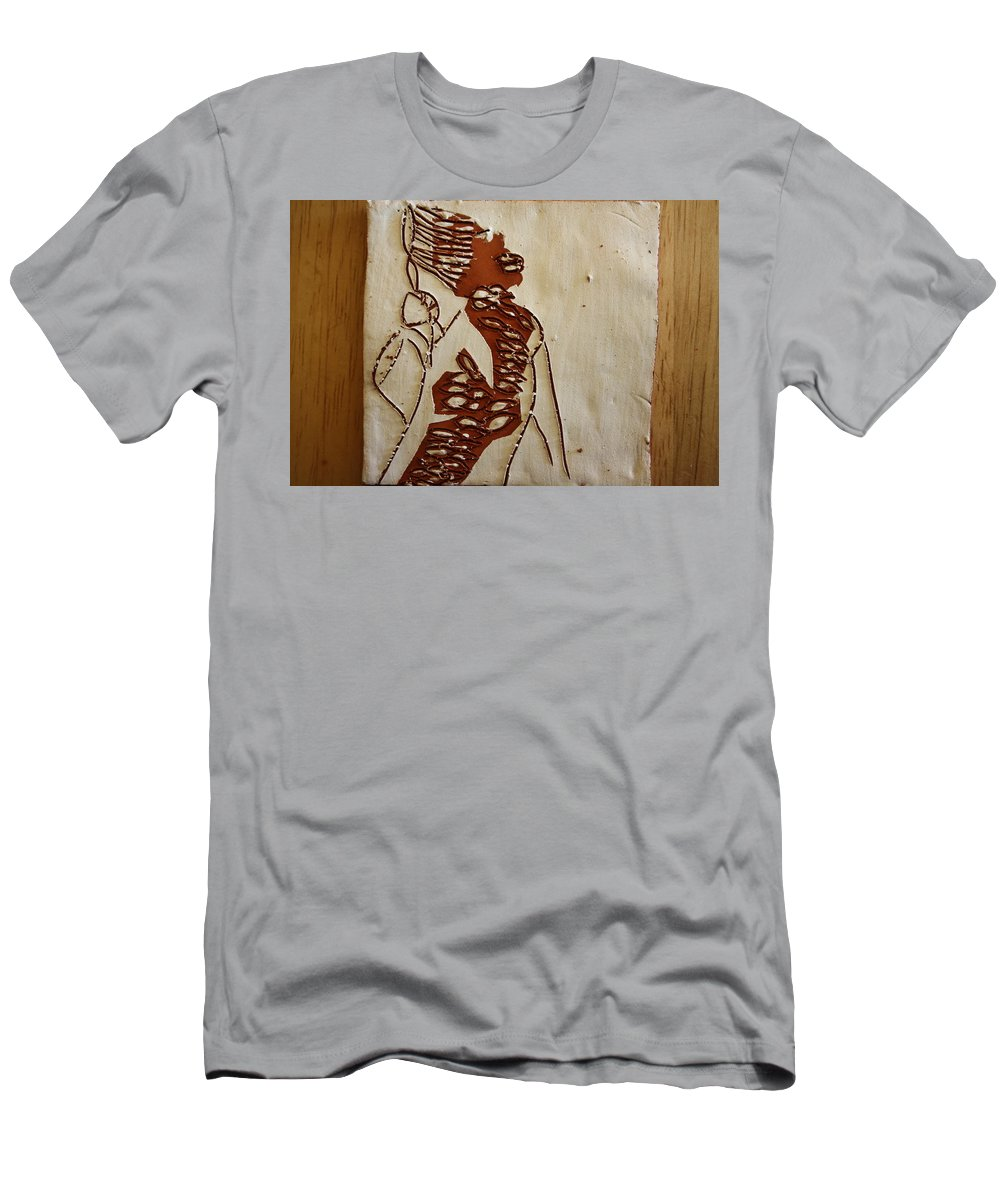 Jesus Men's T-Shirt (Athletic Fit) featuring the ceramic art Mums Home - Tile by Gloria Ssali