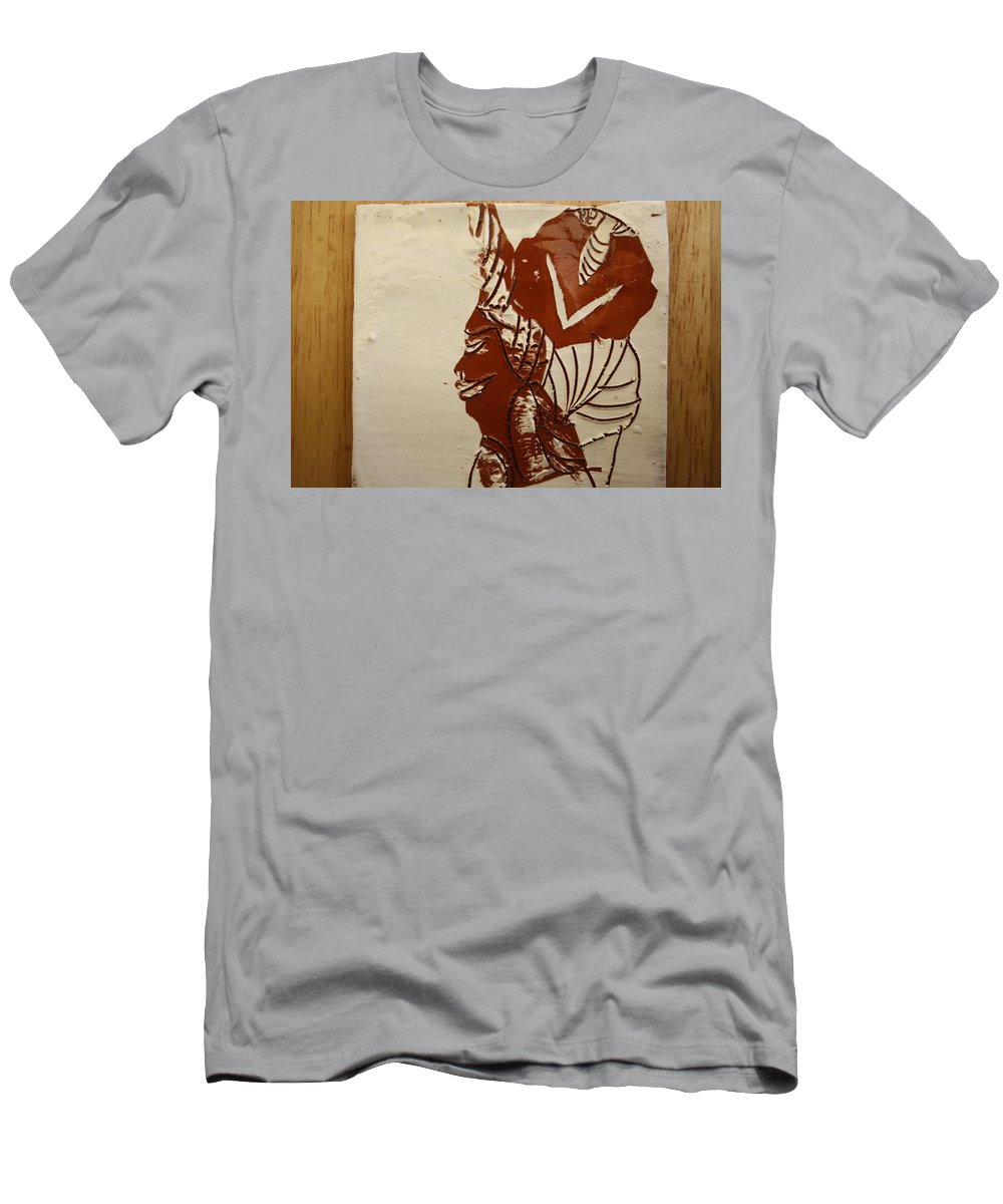 Jesus Men's T-Shirt (Athletic Fit) featuring the ceramic art Mums Love - Tile by Gloria Ssali