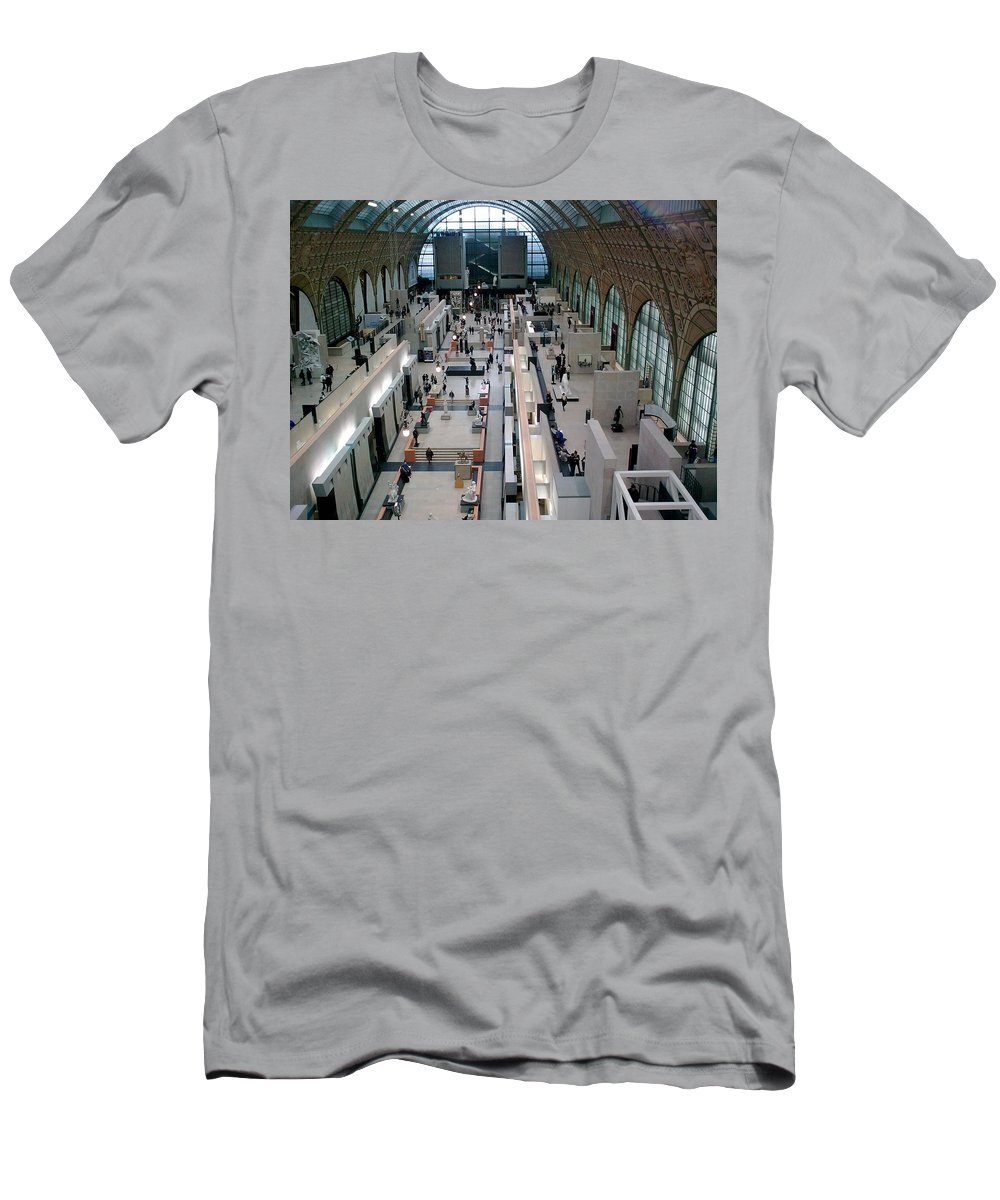 Museum Men's T-Shirt (Athletic Fit) featuring the photograph Museum D'orsay Paris by Valerie Ornstein