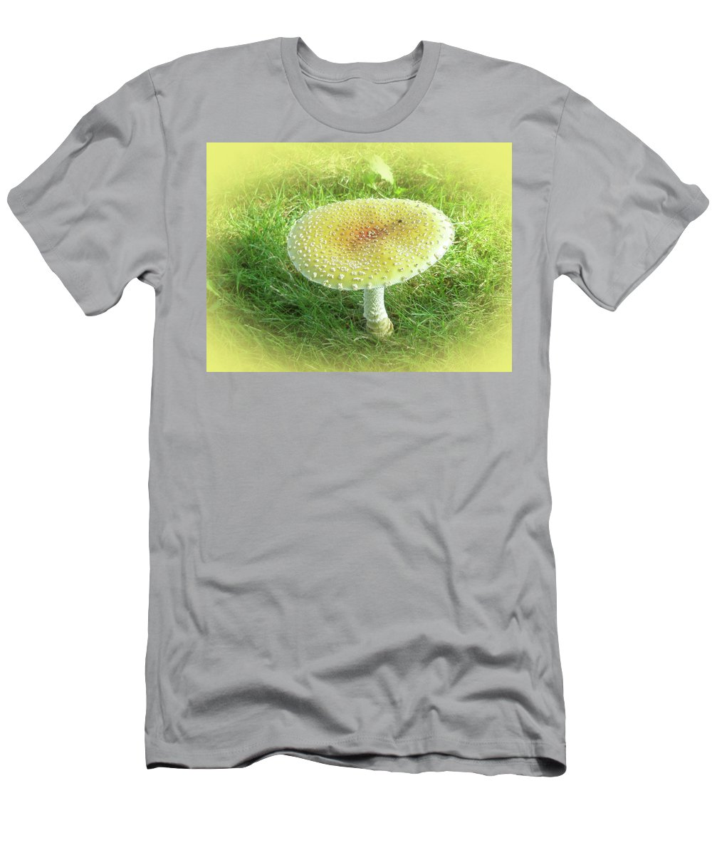 Mushroom Men's T-Shirt (Athletic Fit) featuring the photograph Mushroom - Amanita Muscaria Guessowii by Mother Nature