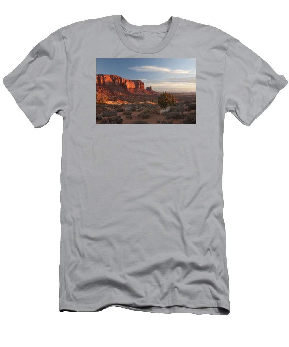 Mesa Men's T-Shirt (Athletic Fit) featuring the photograph Mv Mesa Sunrise 7656 by Bob Neiman