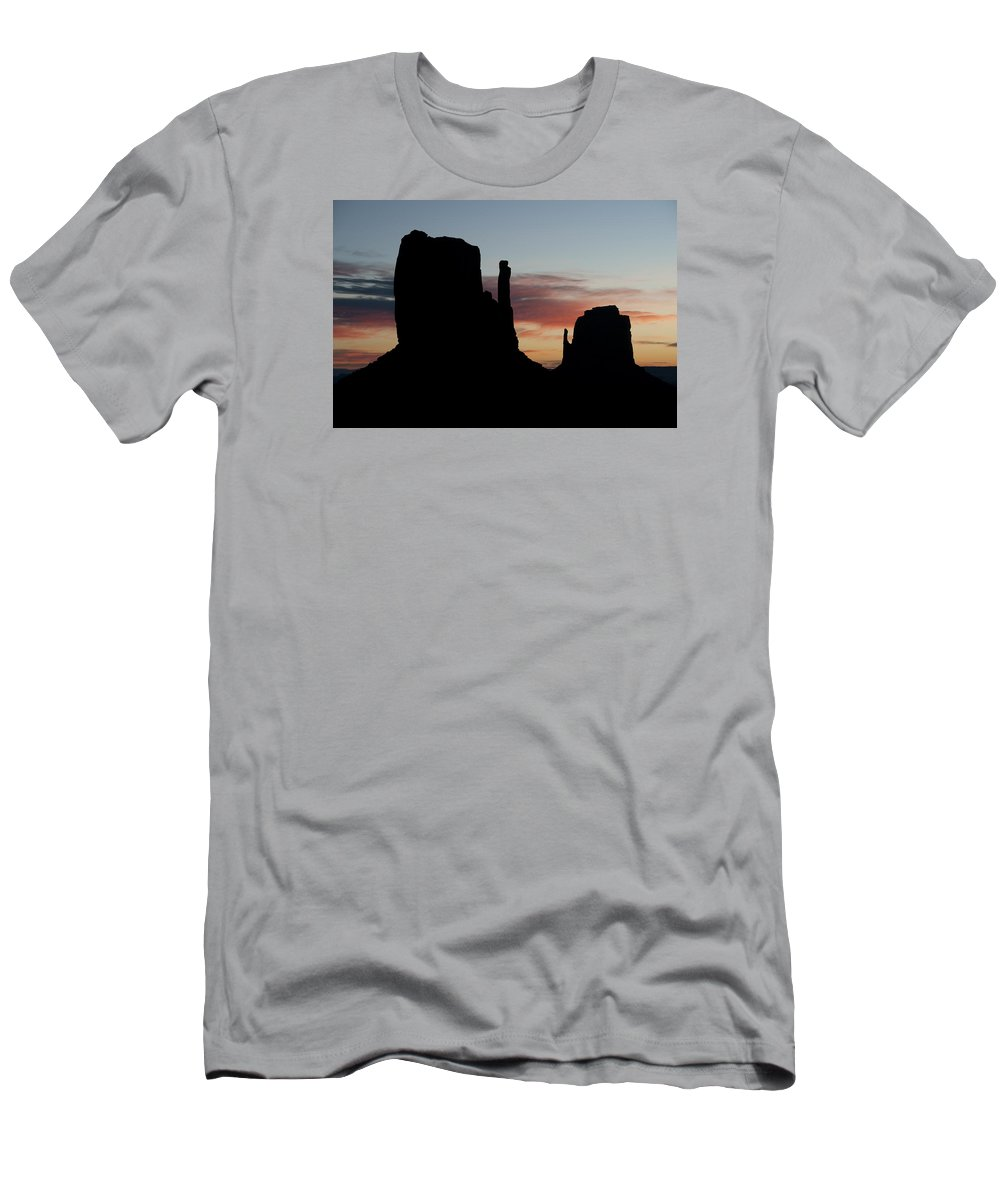 Mitten Men's T-Shirt (Athletic Fit) featuring the photograph Mv Mittens Sunrise 7631 by Bob Neiman