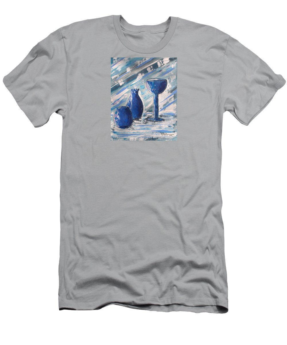 Vases Men's T-Shirt (Athletic Fit) featuring the painting My Blue Vases by J R Seymour