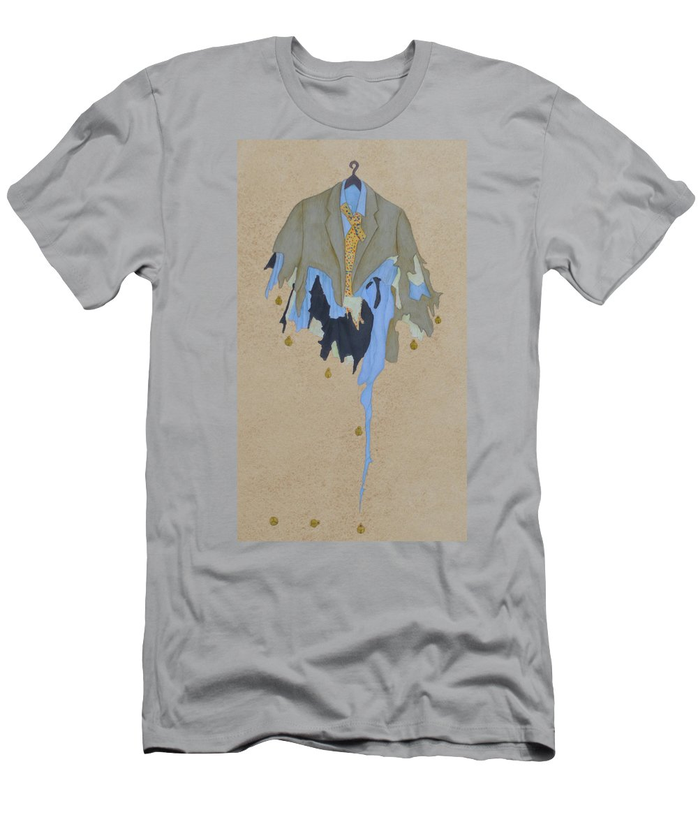Contemporary  Men's T-Shirt (Athletic Fit) featuring the painting My Costume by Ahmed Khan