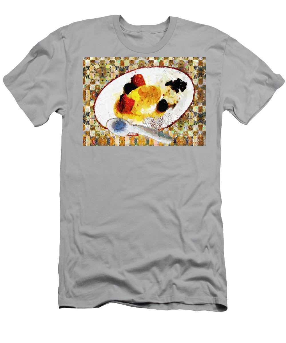 Dessert Men's T-Shirt (Athletic Fit) featuring the painting My Dinner With Gustav by RC DeWinter