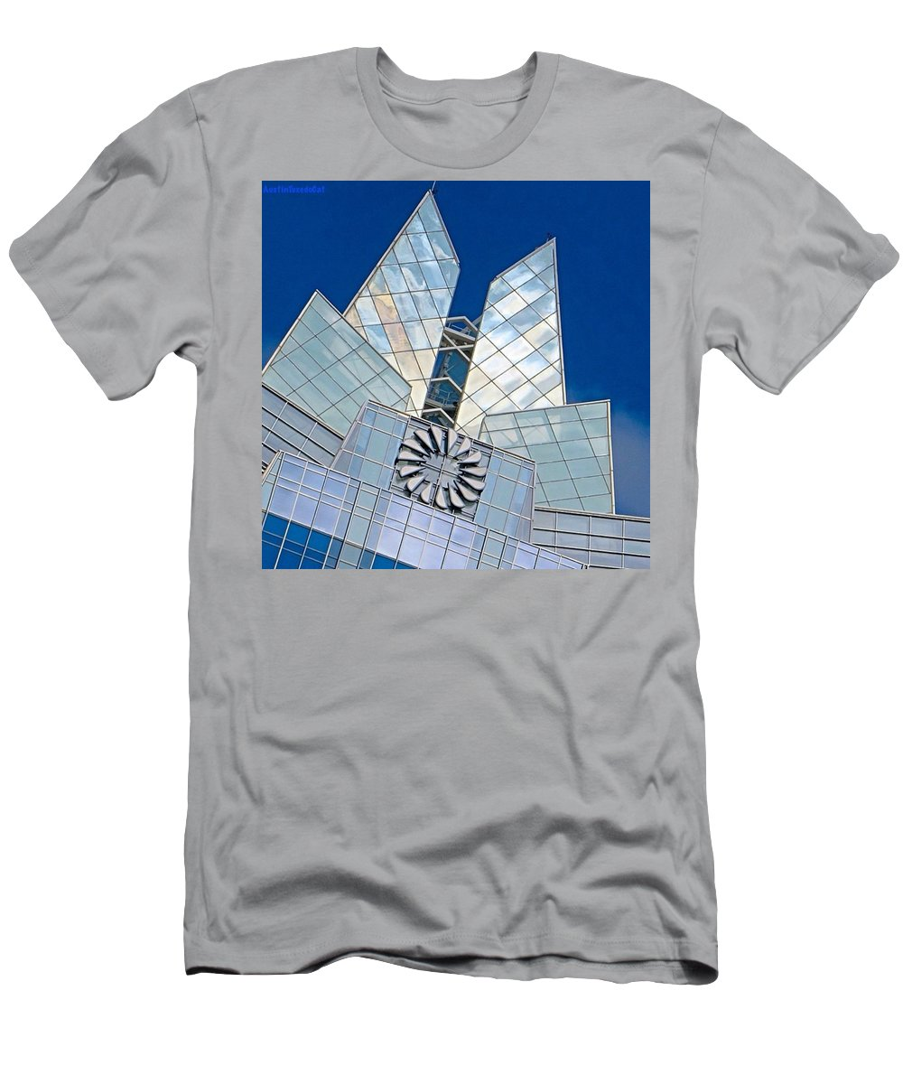Beautiful T-Shirt featuring the photograph My Favorite #building In #myhometown by Austin Tuxedo Cat