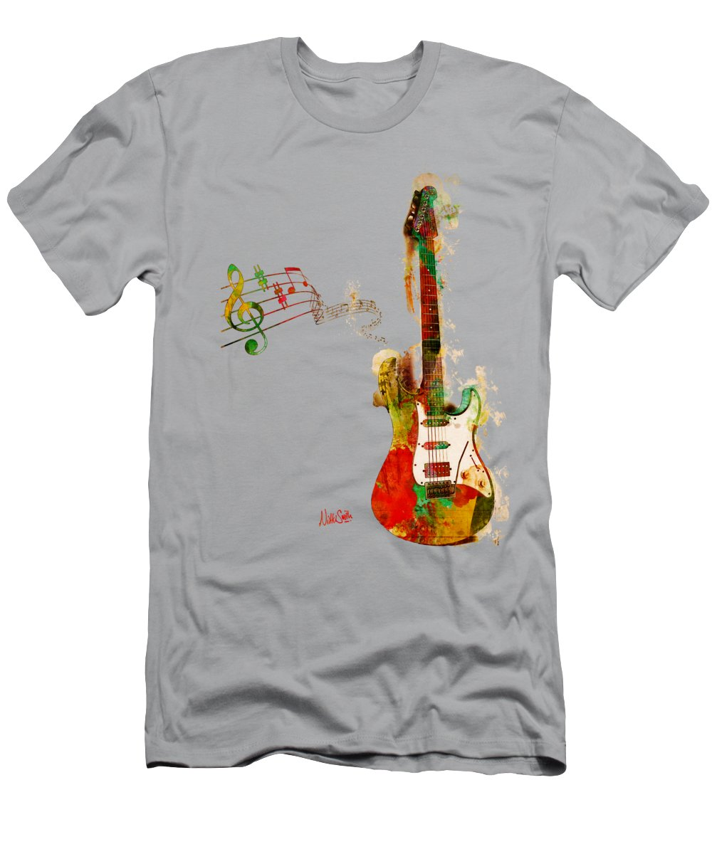 Guitar T-Shirt featuring the digital art My Guitar Can SING by Nikki Smith