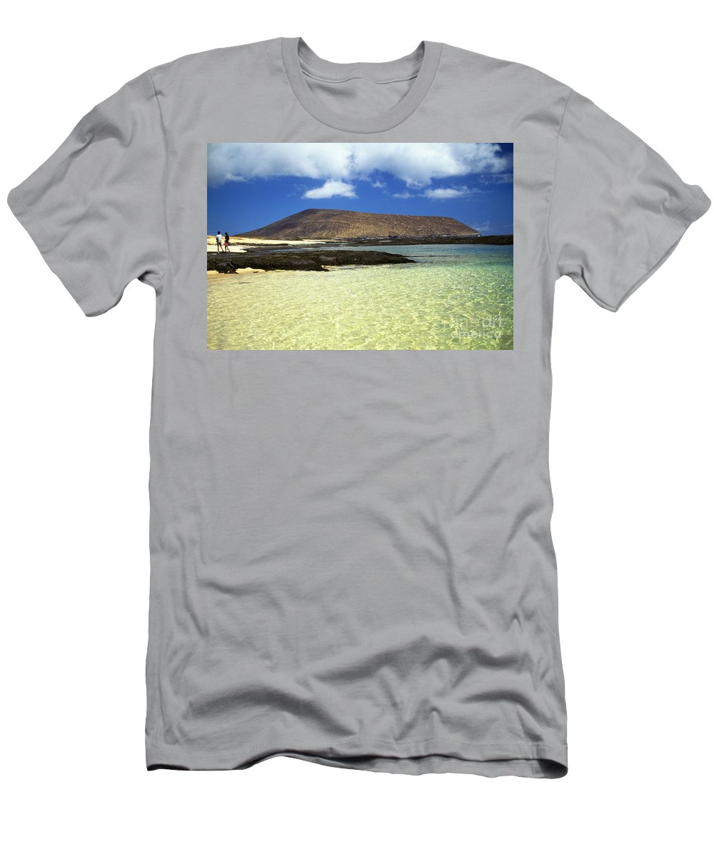 Blue Men's T-Shirt (Athletic Fit) featuring the photograph Nanina Beach by Bob Abraham - Printscapes