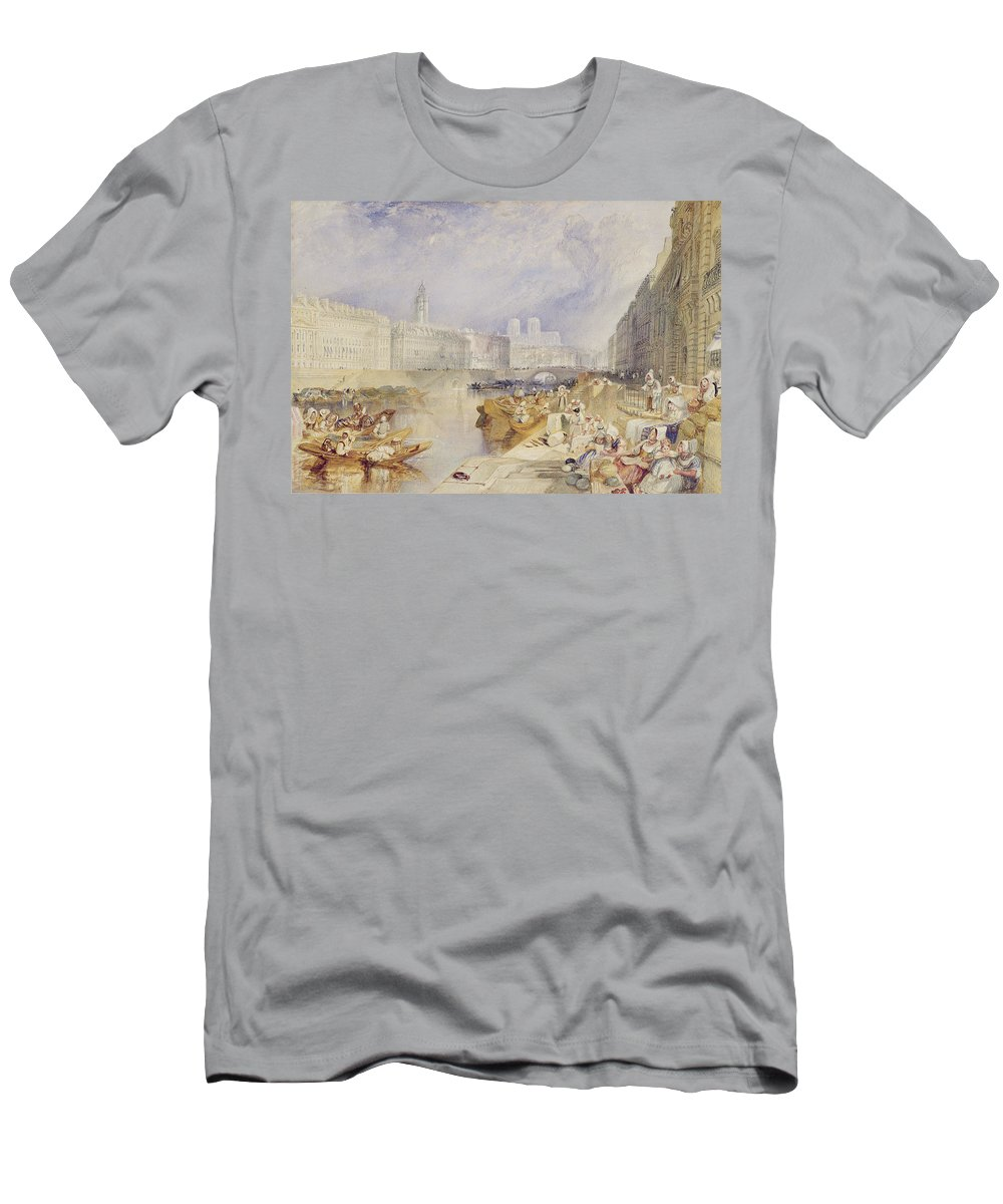 Nantes Men's T-Shirt (Athletic Fit) featuring the painting Nantes by Joseph Mallord William Turner