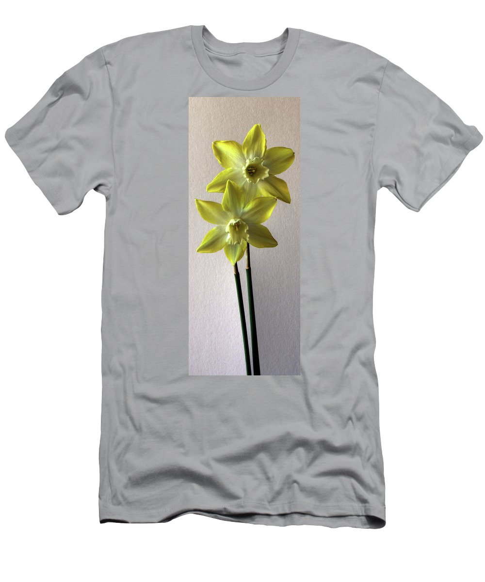 Narcissi Men's T-Shirt (Athletic Fit) featuring the photograph Narcissi by Alan Pickersgill