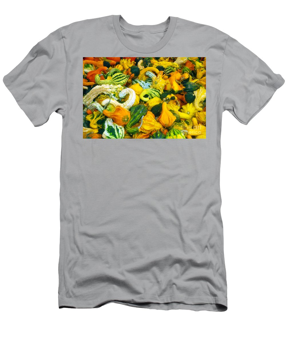 Nature Men's T-Shirt (Athletic Fit) featuring the painting Natures Bounty by David Lee Thompson