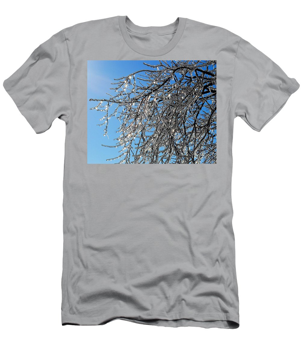 Crystal Men's T-Shirt (Athletic Fit) featuring the photograph Natures Crystal by Frozen in Time Fine Art Photography