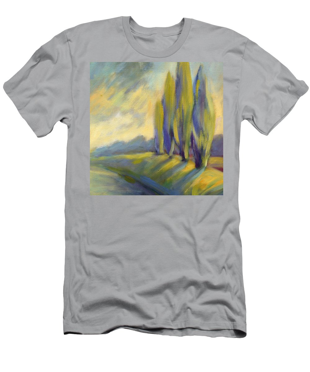 Trees Men's T-Shirt (Athletic Fit) featuring the painting New Beginning 3 by Konnie Kim