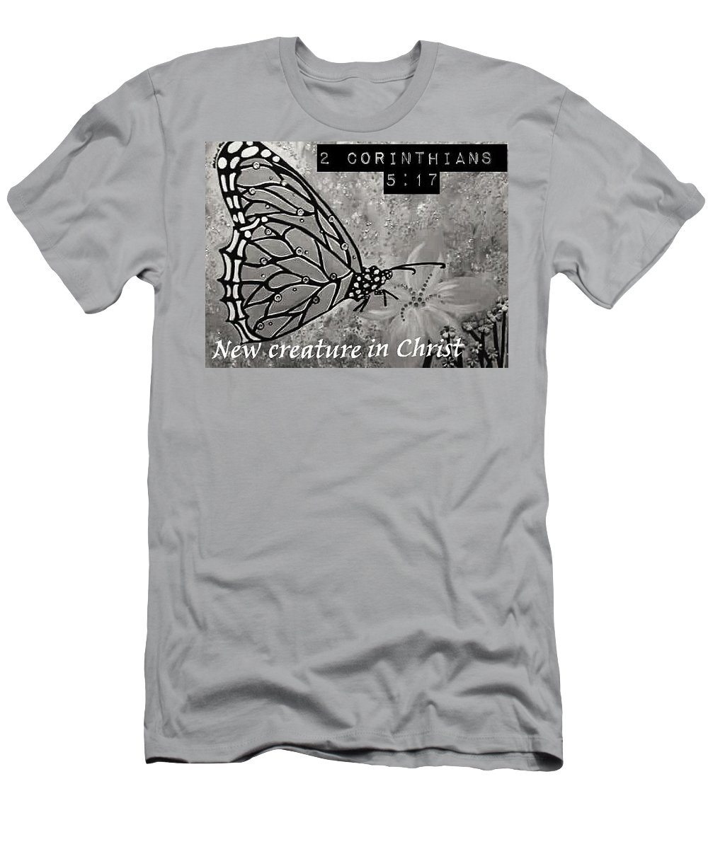 Butterfly Men's T-Shirt (Athletic Fit) featuring the painting New Creature In Christ by Dishonka Green
