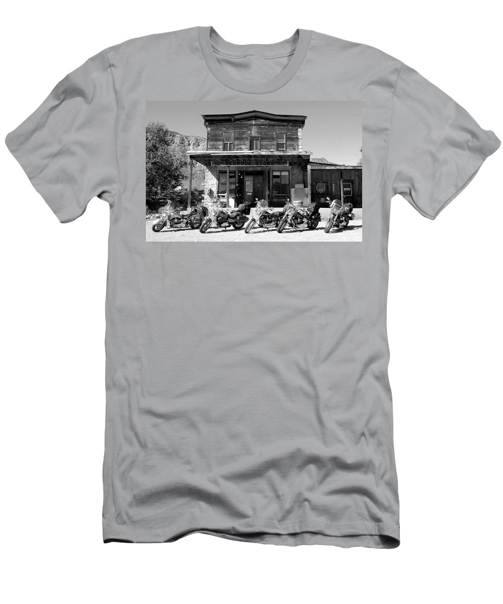 Fine Art Photography Men's T-Shirt (Athletic Fit) featuring the photograph New Horses At Bedrock by David Lee Thompson