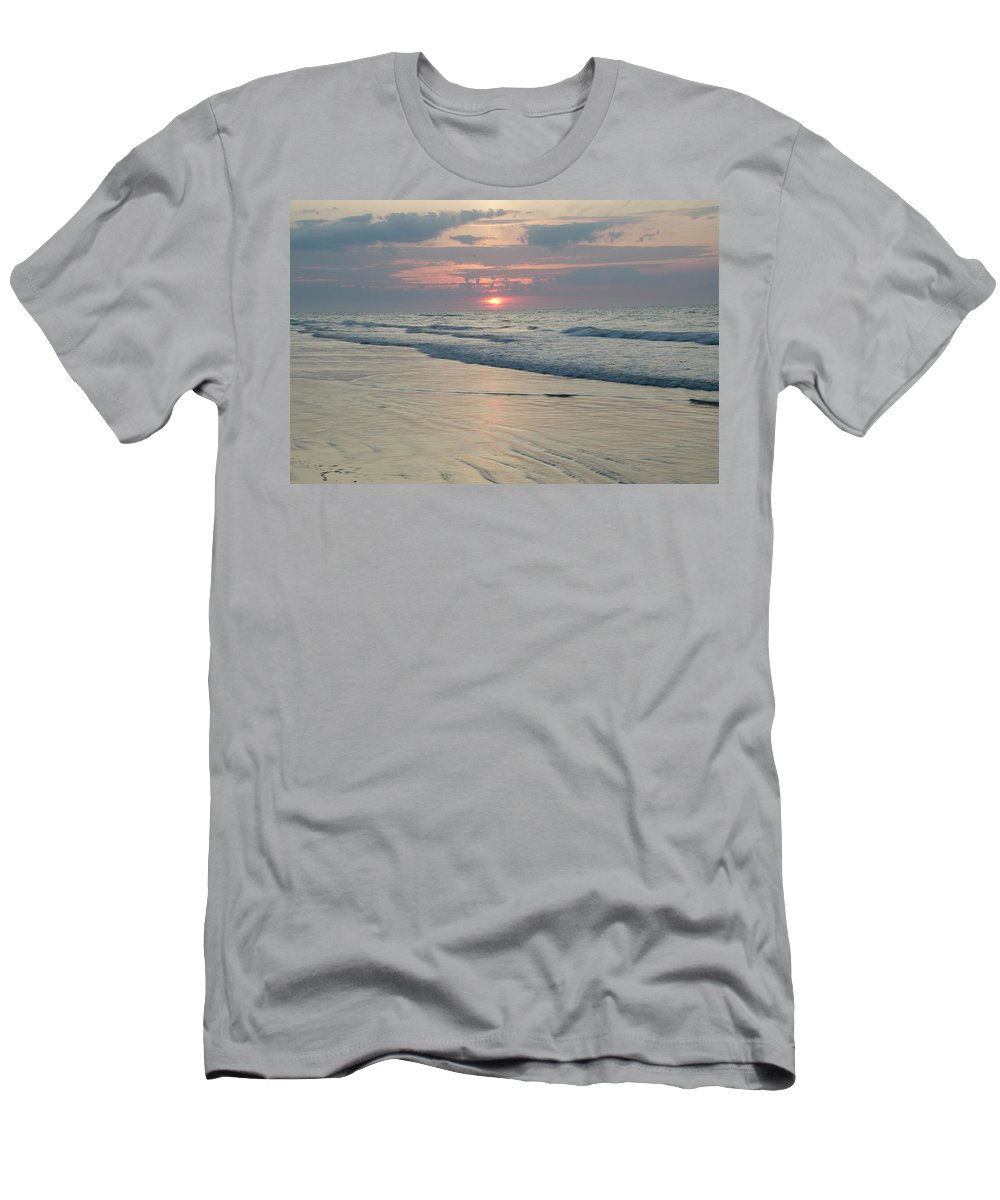 New Men's T-Shirt (Athletic Fit) featuring the photograph New Jersey - Wildwood Sunrise by Bill Cannon