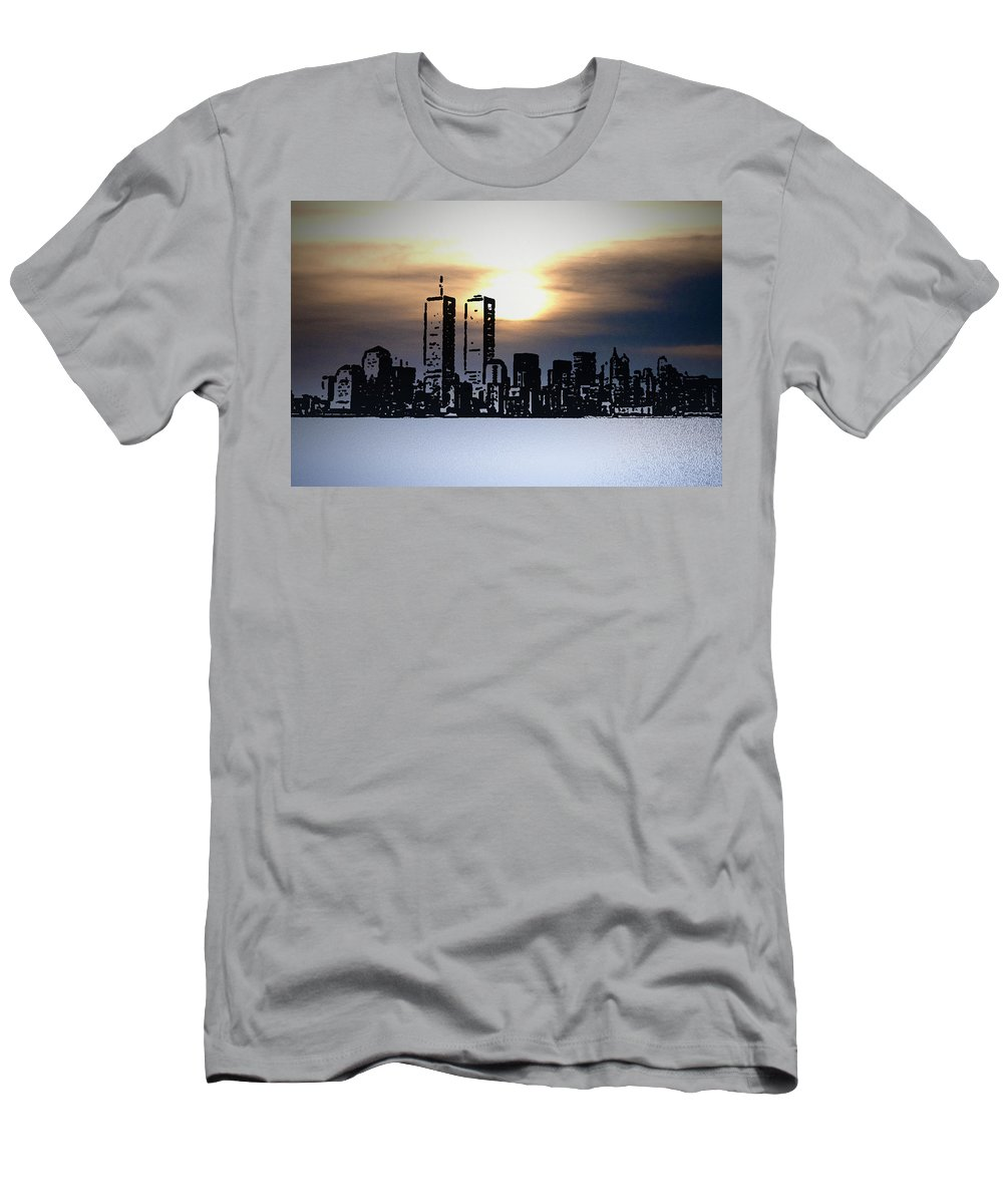 New York Men's T-Shirt (Athletic Fit) featuring the photograph New York City - The Way We Were by Bill Cannon