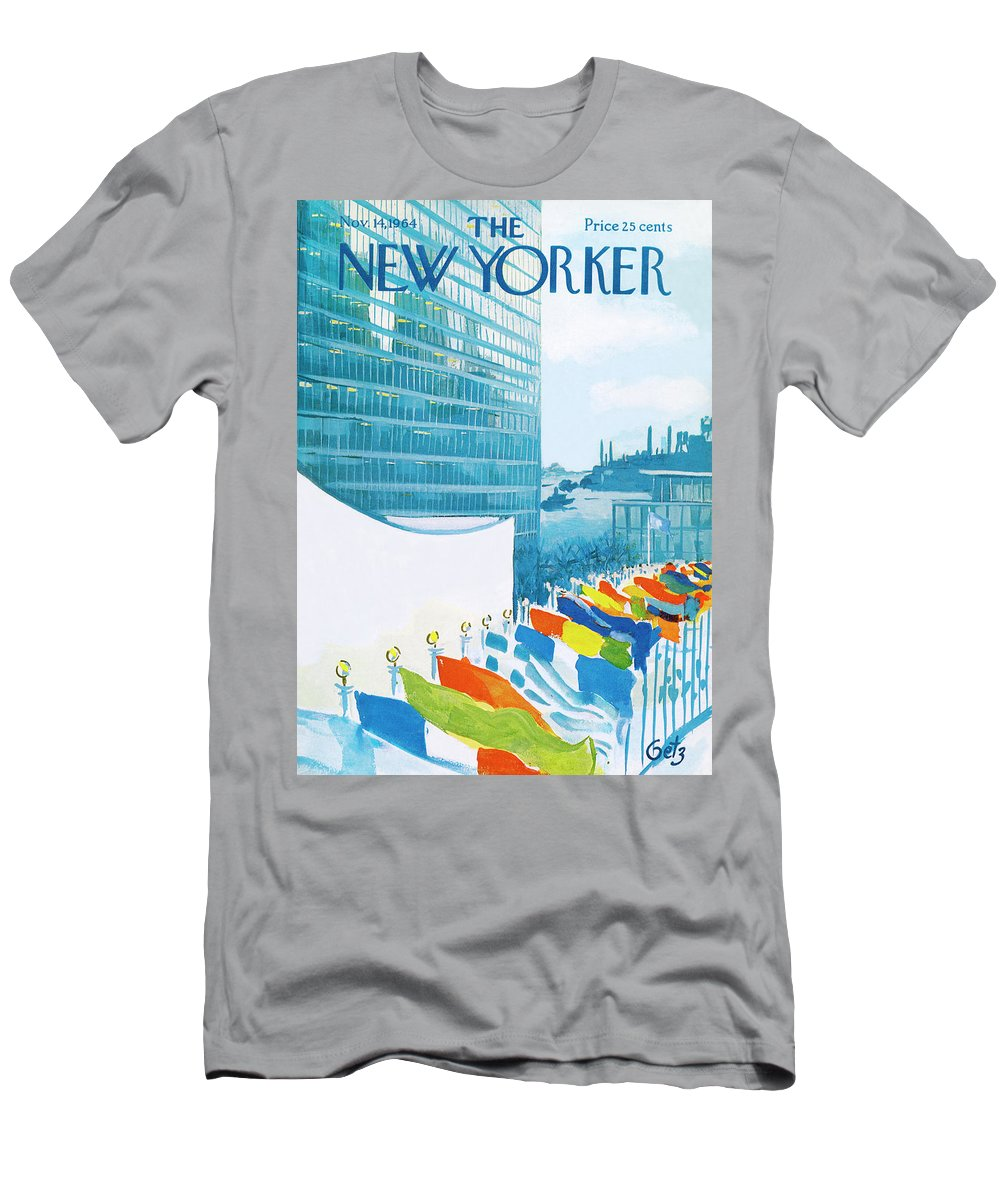 Urban T-Shirt featuring the painting New Yorker November 14th, 1964 by Arthur Getz