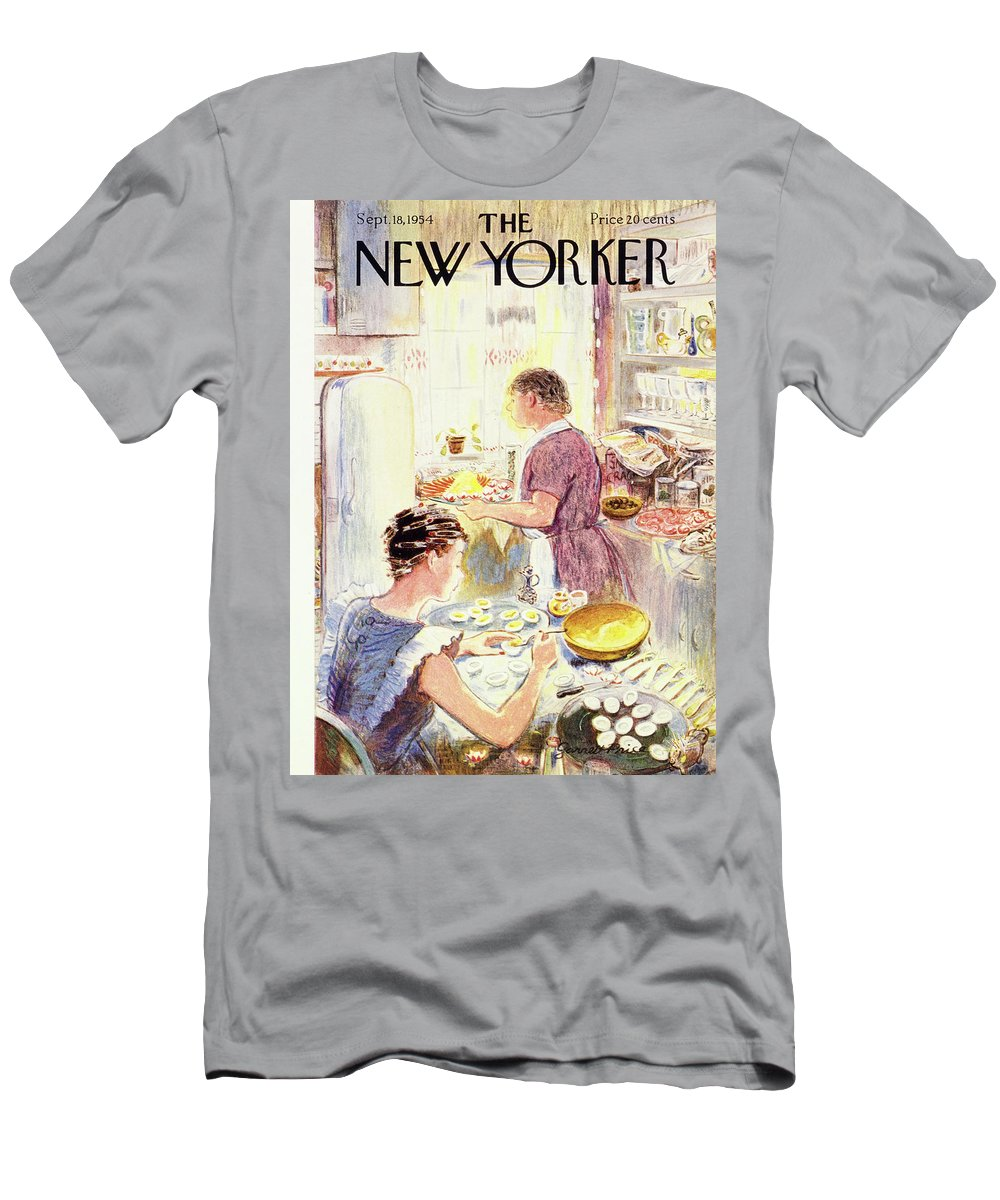 Hostess Men's T-Shirt (Athletic Fit) featuring the painting New Yorker September 18 1954 by Garrett Price