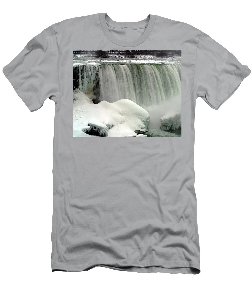Landscape Men's T-Shirt (Athletic Fit) featuring the photograph Niagara Falls 3 by Anthony Jones