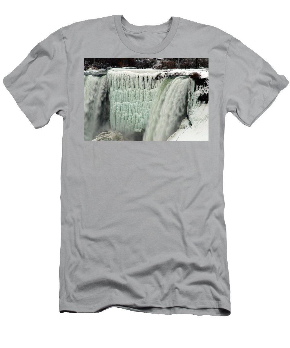 Landscape Men's T-Shirt (Athletic Fit) featuring the photograph Niagara Falls 7 by Anthony Jones