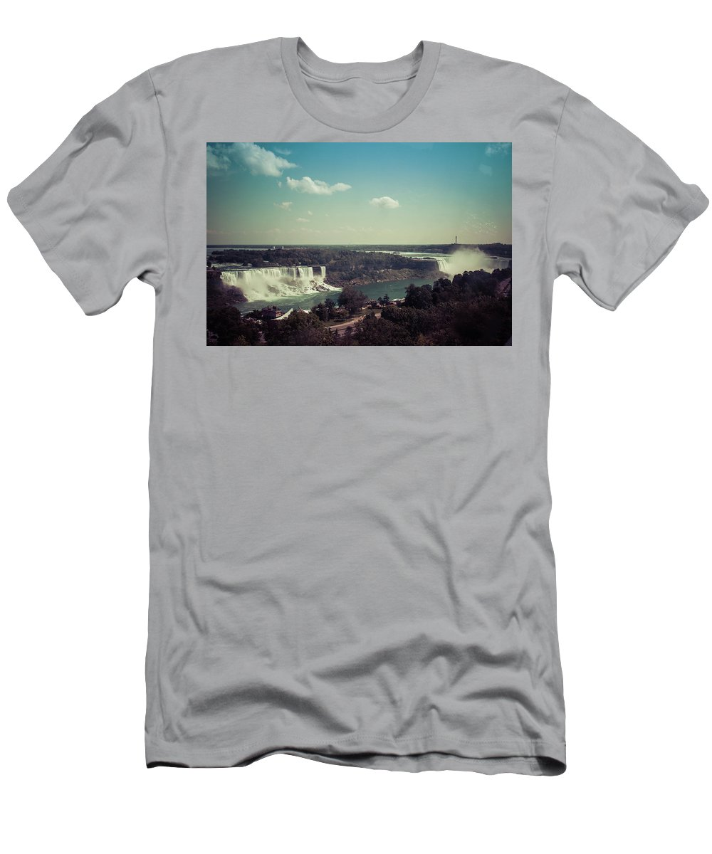 Water Men's T-Shirt (Athletic Fit) featuring the photograph Niagra Falls by Kaylee Killian