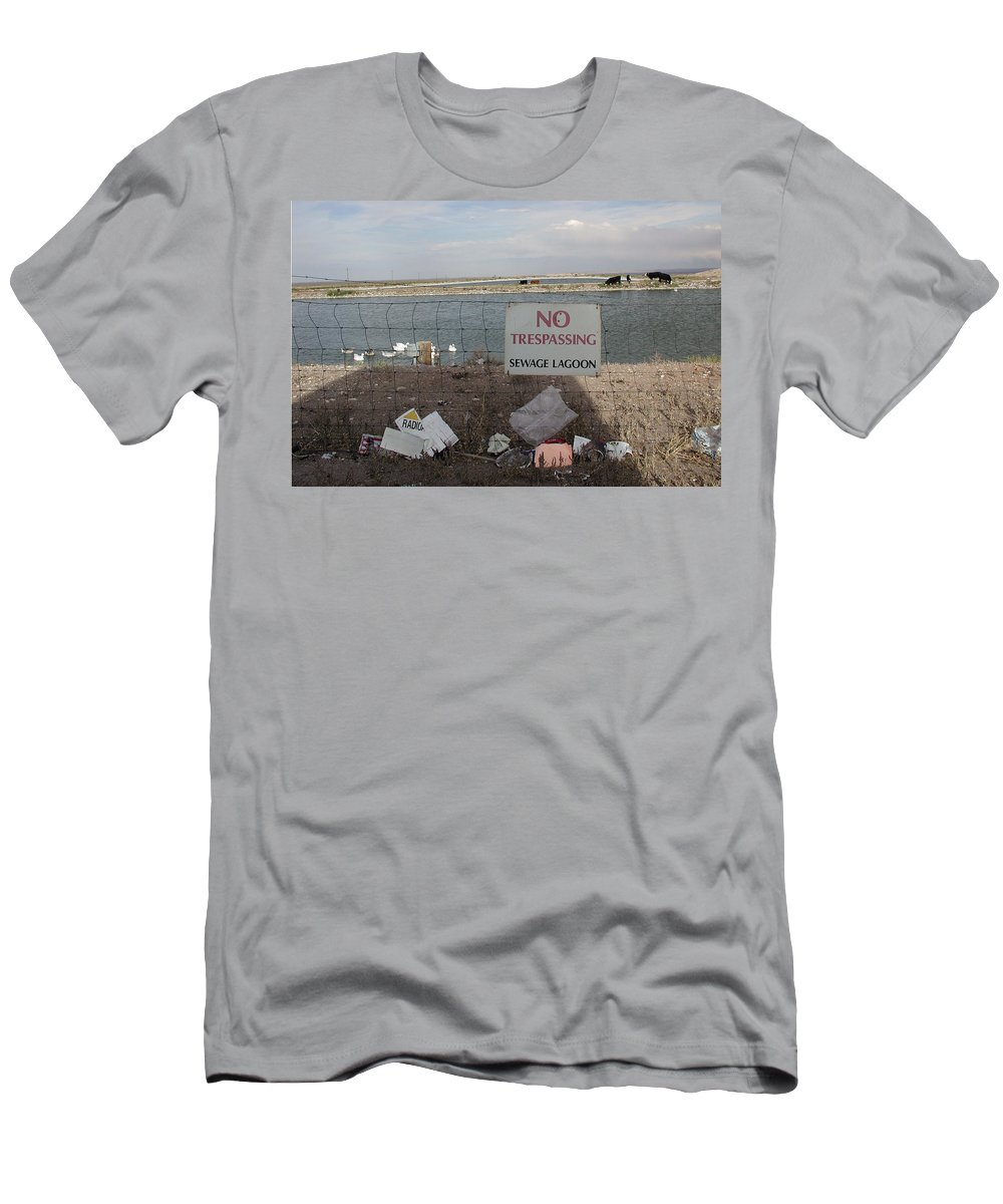 No Trespassing Men's T-Shirt (Athletic Fit) featuring the photograph No Trespassing by D'Arcy Evans