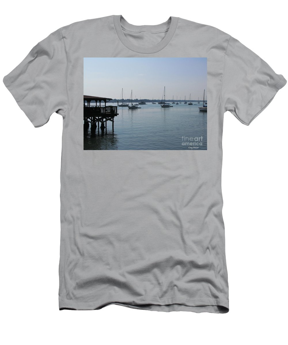 Art For The Wall...patzer Photography Men's T-Shirt (Athletic Fit) featuring the photograph No Wind by Greg Patzer