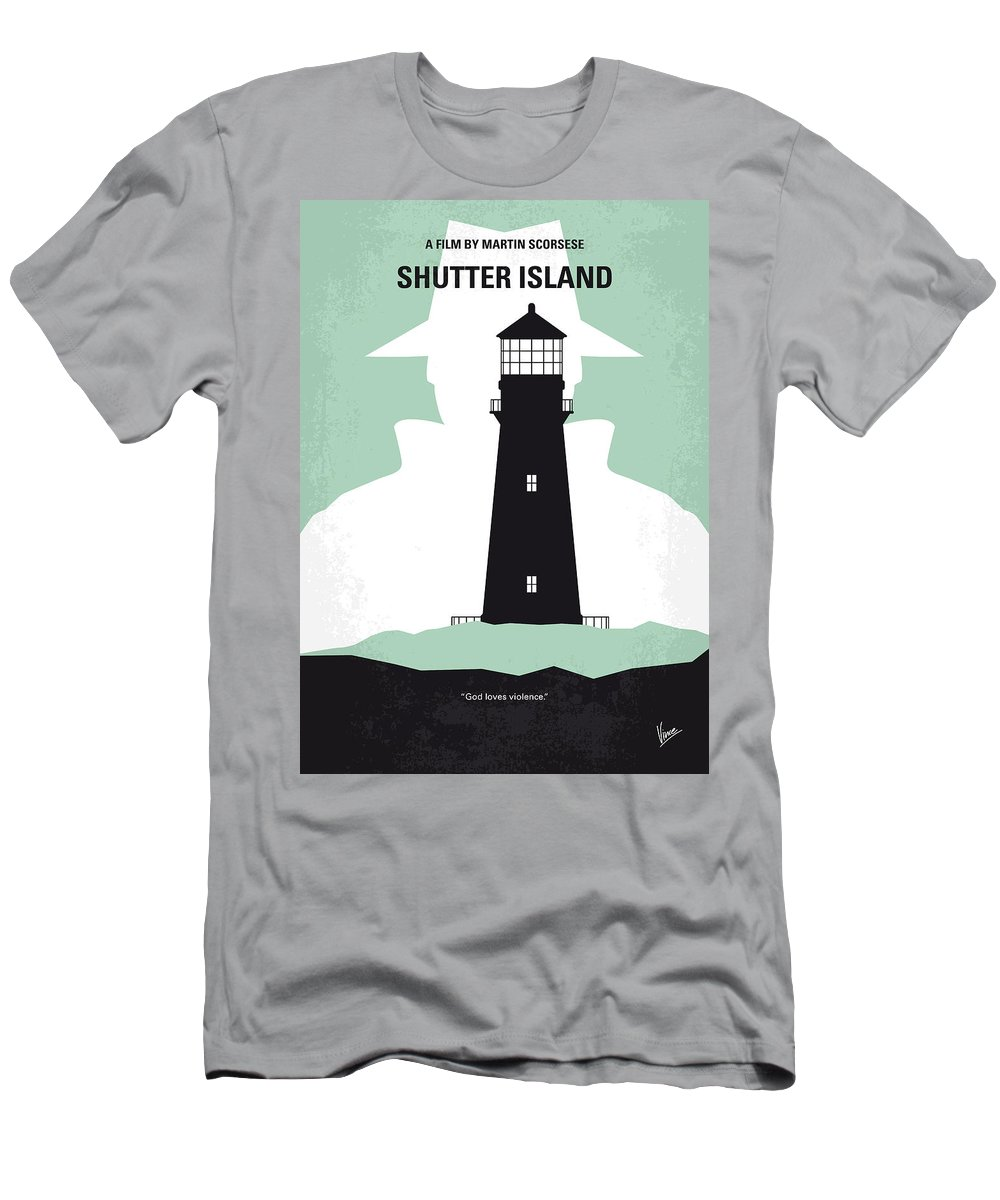 Shutter Men's T-Shirt (Athletic Fit) featuring the digital art No513 My Shutter Island Minimal Movie Poster by Chungkong Art