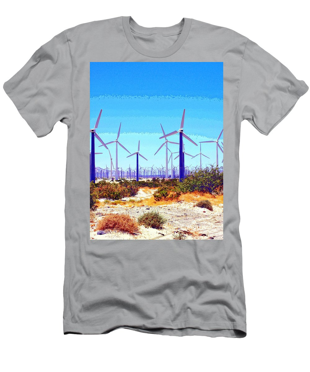 Wind Generators Men's T-Shirt (Athletic Fit) featuring the mixed media None Shall Pass by Dominic Piperata