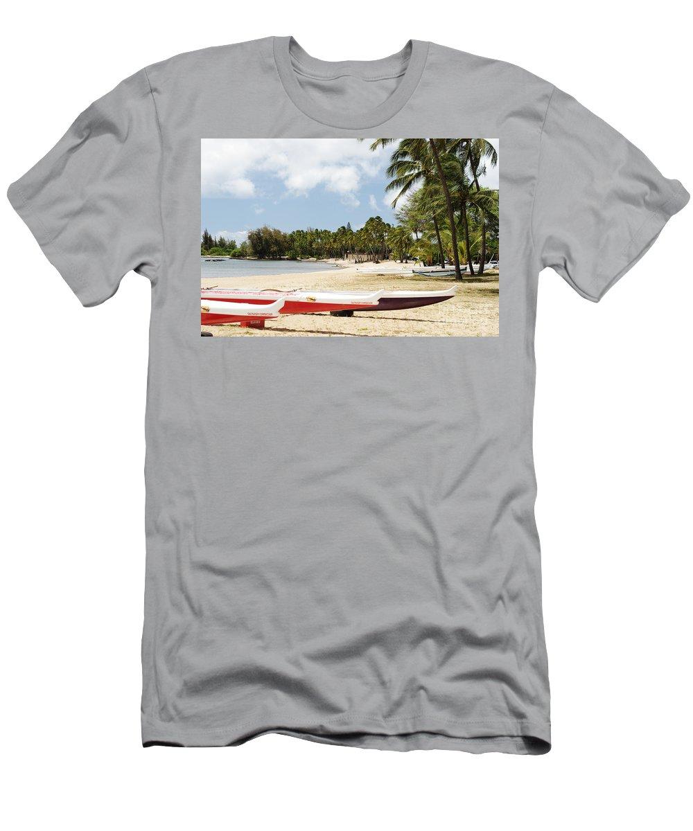 Ashore Men's T-Shirt (Athletic Fit) featuring the photograph North Shore, Haleiwa by Vince Cavataio - Printscapes