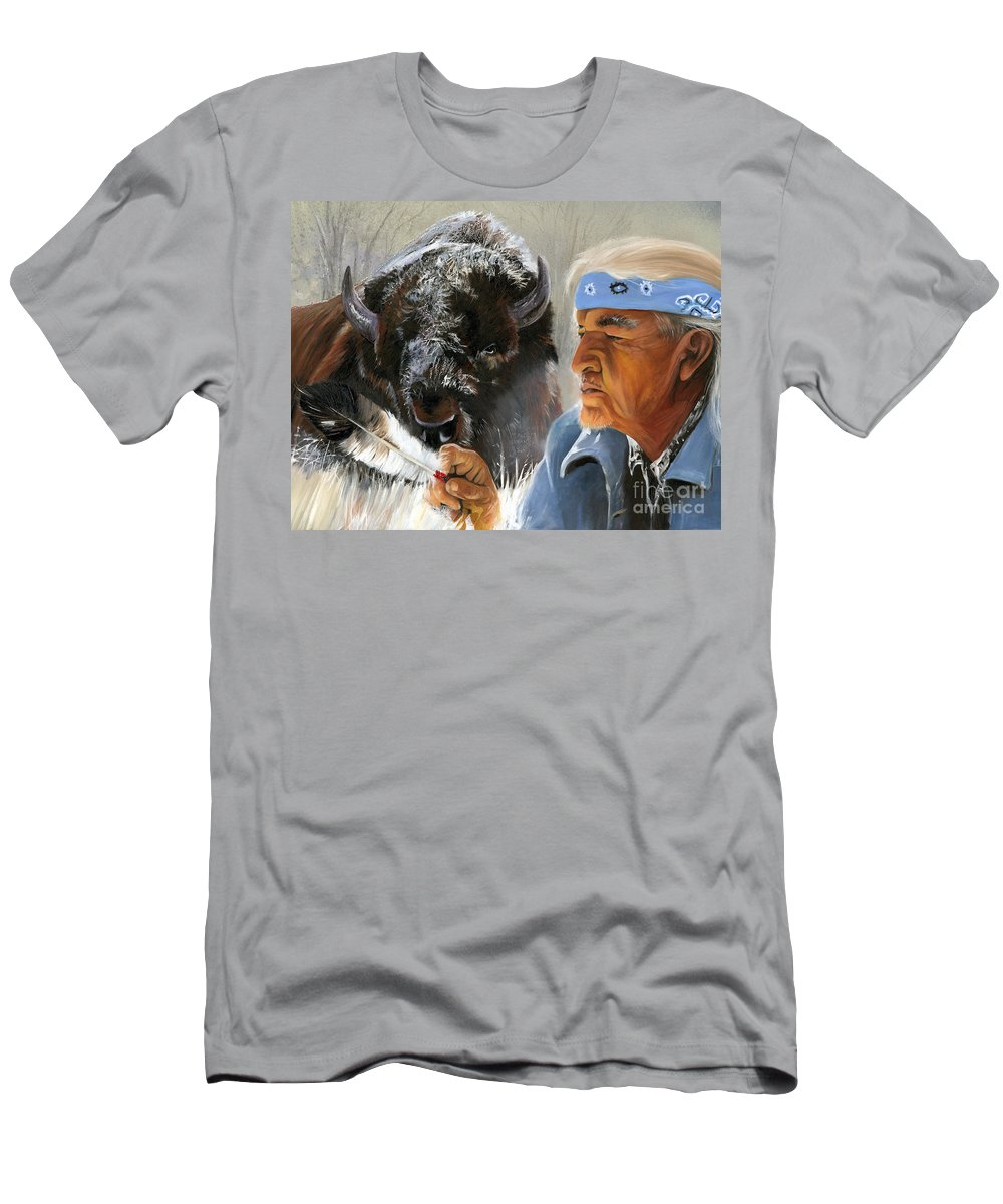 Southwest Art Men's T-Shirt (Athletic Fit) featuring the painting Nothing Is Ever Forgotten by J W Baker