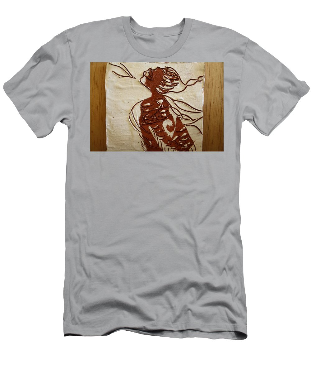 Jesus Men's T-Shirt (Athletic Fit) featuring the ceramic art Nude 10 - Tile by Gloria Ssali