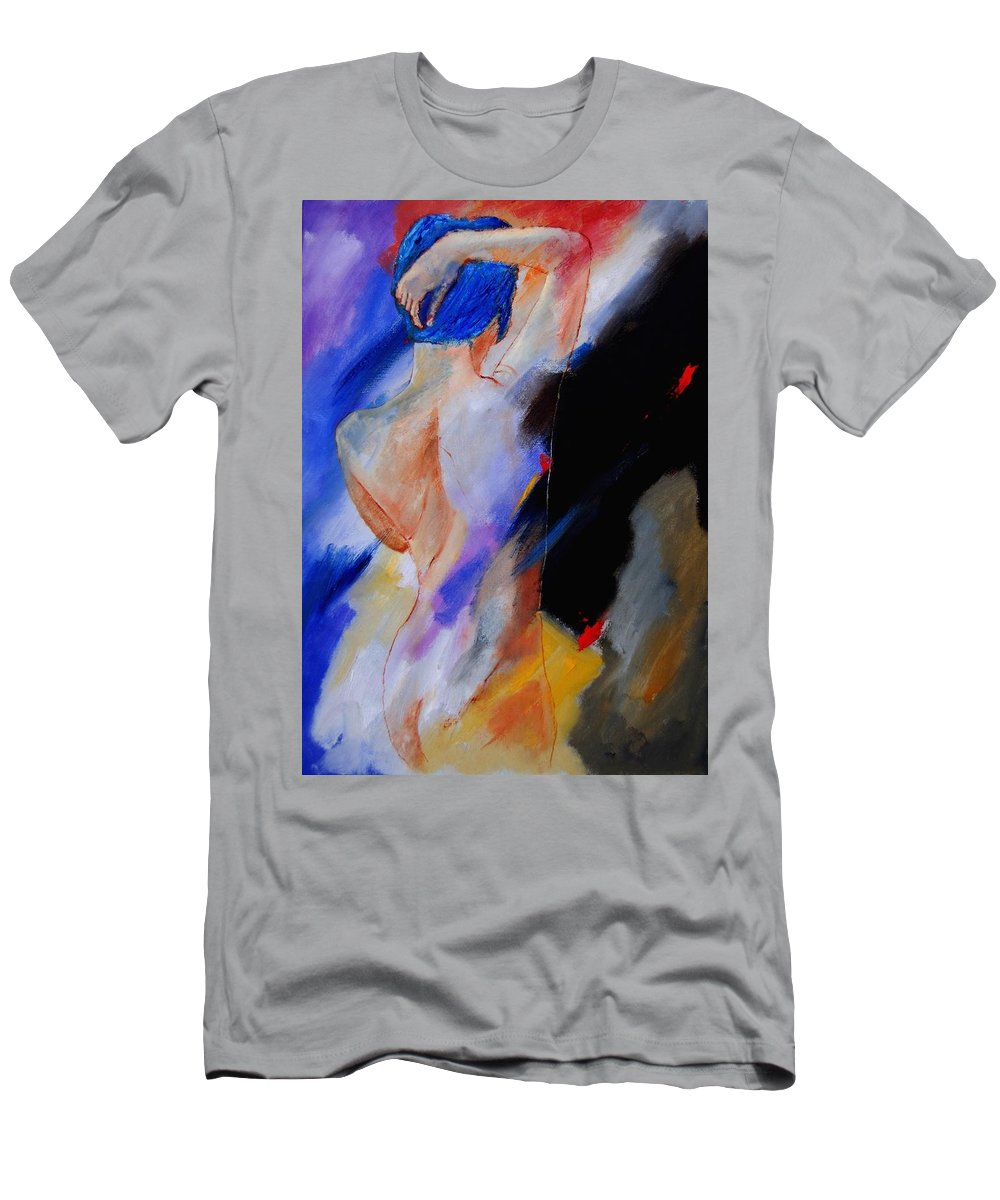 Nude Men's T-Shirt (Athletic Fit) featuring the painting Nude 579020 by Pol Ledent