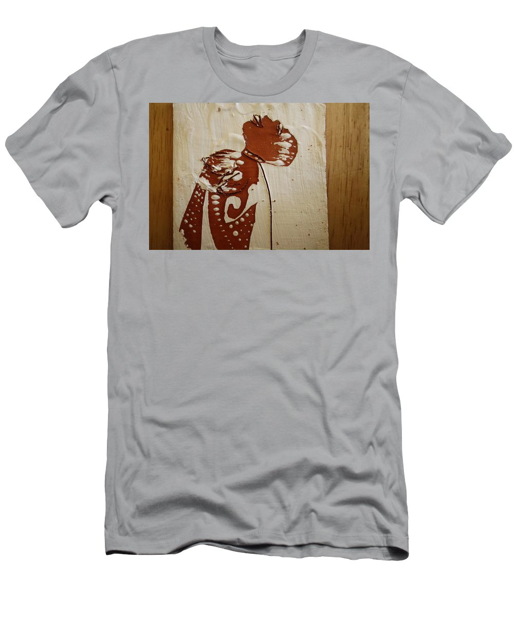 Jesus Men's T-Shirt (Athletic Fit) featuring the ceramic art Nude 8 - Tile by Gloria Ssali