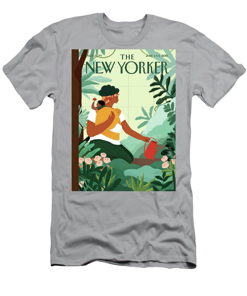 Nurture T-Shirt featuring the painting Nurture by Loveis Wise