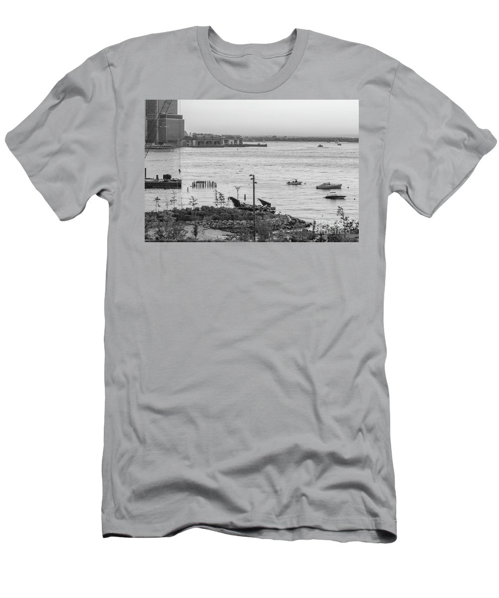 Men's T-Shirt (Athletic Fit) featuring the photograph Ny Port by Silvia Bruno